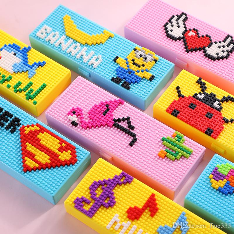 Blocks Pencil Cases Bricks Stationery Box for Children Boys Girls Creative Building Blocks School Stationery Holder Kids Promotional Gifts