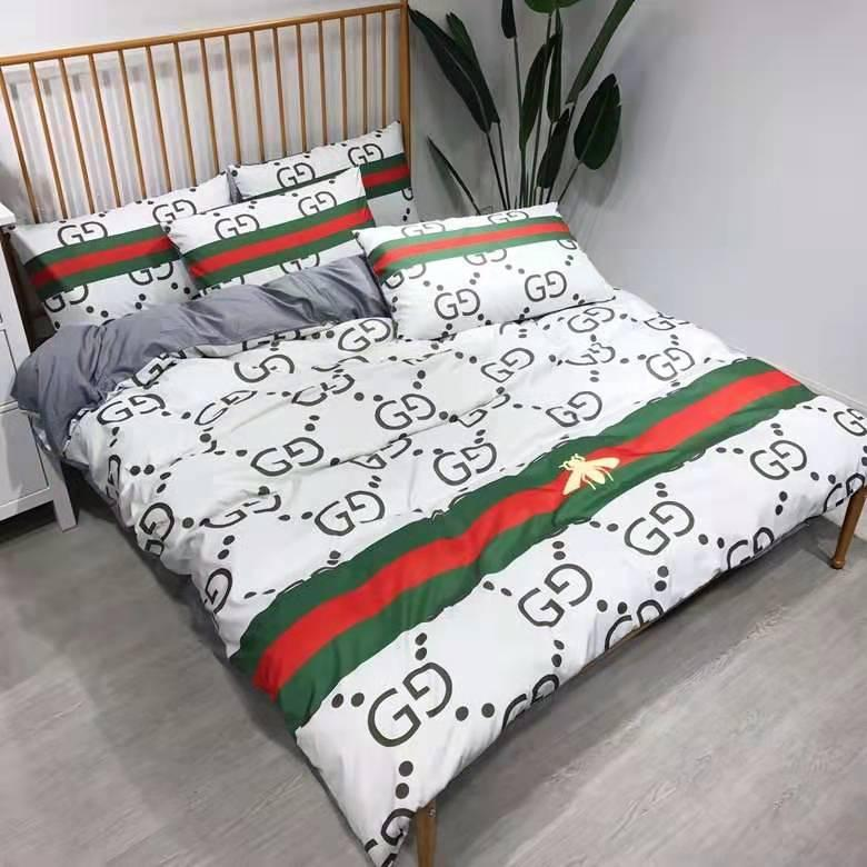 Brand Design Letter V Bedding Set Classic Bed Sheets Fashion Bed Comforters  Set Winter Warm Queen King Size bedding Cotton Cover Bed sheet
