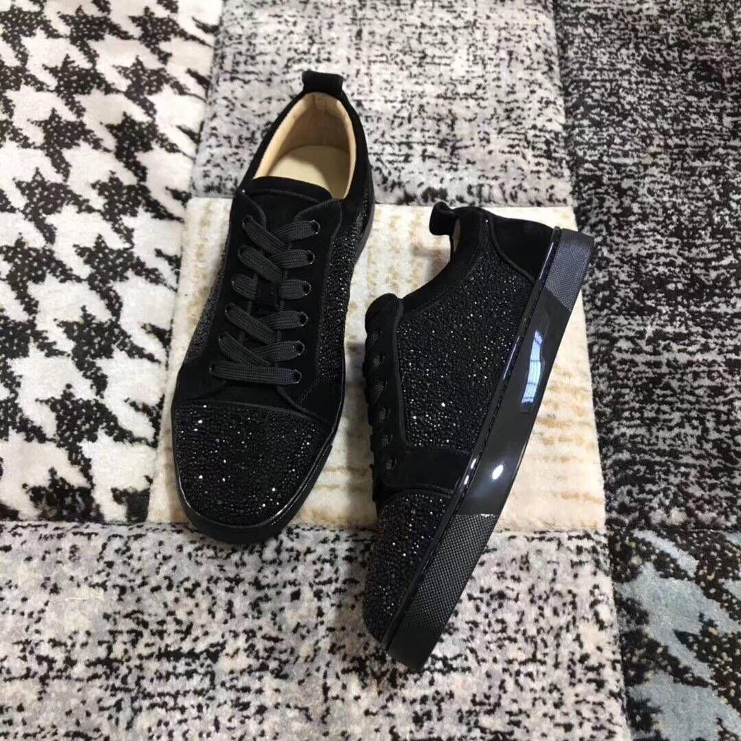 Zapatos Para Leather MujerHombres Junior StrassLow Top Black Marca Deporte Fiesta Moda Lujo Fondo Zapatillas De Suede Con Boda Rojo 8X0wPnOZNk
