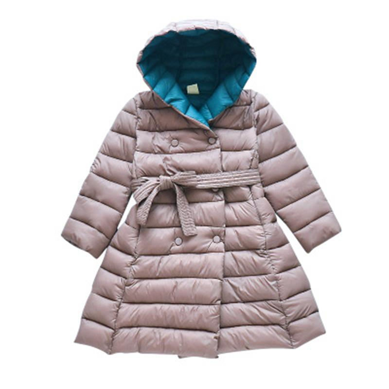 7ef429f52692 2018 Toddler Teenage Kids Jacket For Girls Cotton-padded Parkas ...