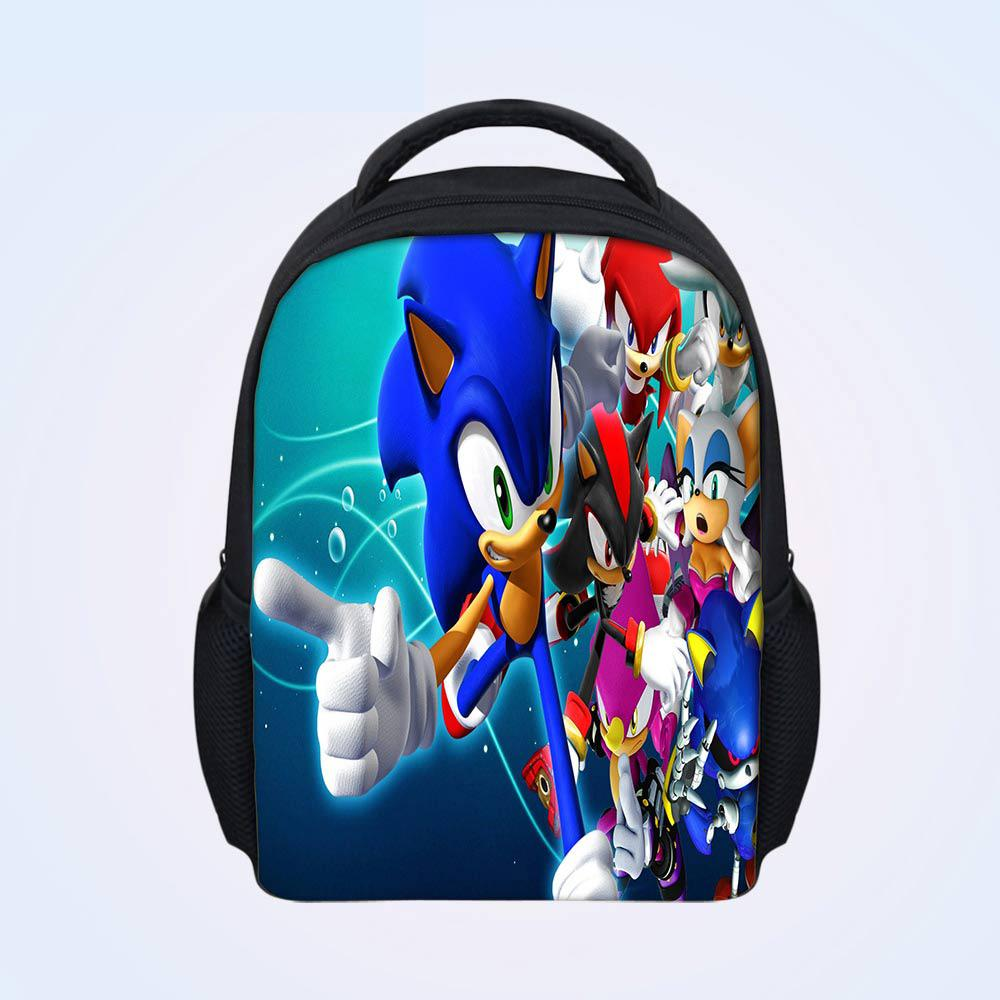 fd88d21e84ce 2019 Famous Sonic the Hedgehog Game Cartoon School Bags for Kindergarten  EmbossingKids Baby Schoolbag Children Book Bag Backpack