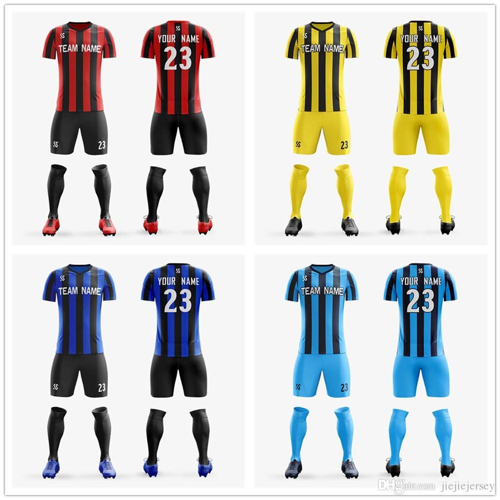 90bd8ac865a Men's Youth soccer jerseys Sets 2018 2019 football training suits running  sets custom football uniforms adult sports kits