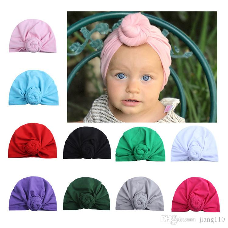 cf1d746847a Cute Infant Toddler Unisex Ball Knot Indian Turban Kids Spring ...