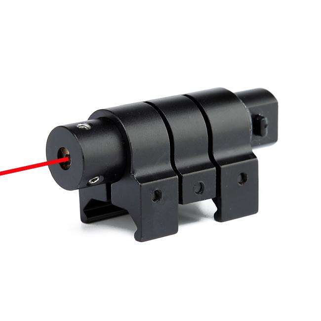 Outdoor Tactical Red Laser Dot Sight Mini Hunting Red Dot Sight With 20mm Picatinny Weaver Rail.
