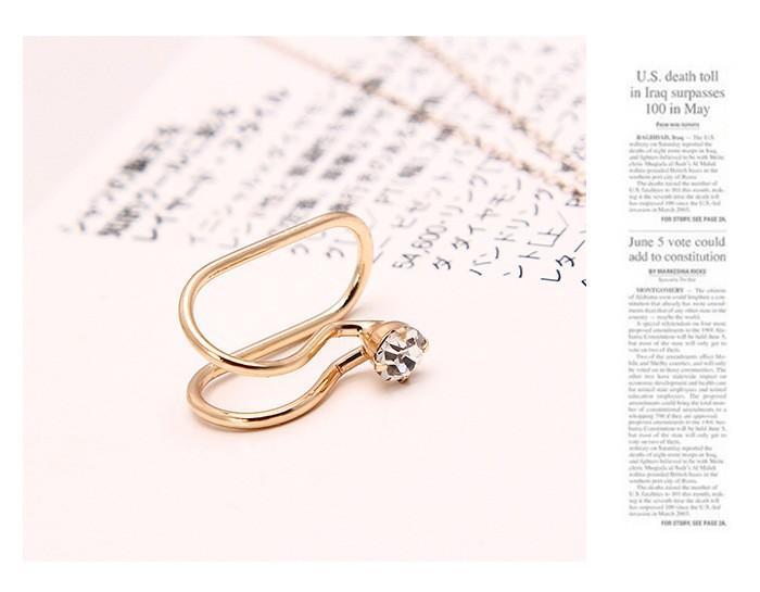 Clip del polsino dell'orecchio della perla della stella del cuore di stile coreano sugli orecchini i monili 5E202 delle ragazze di modo delle donne