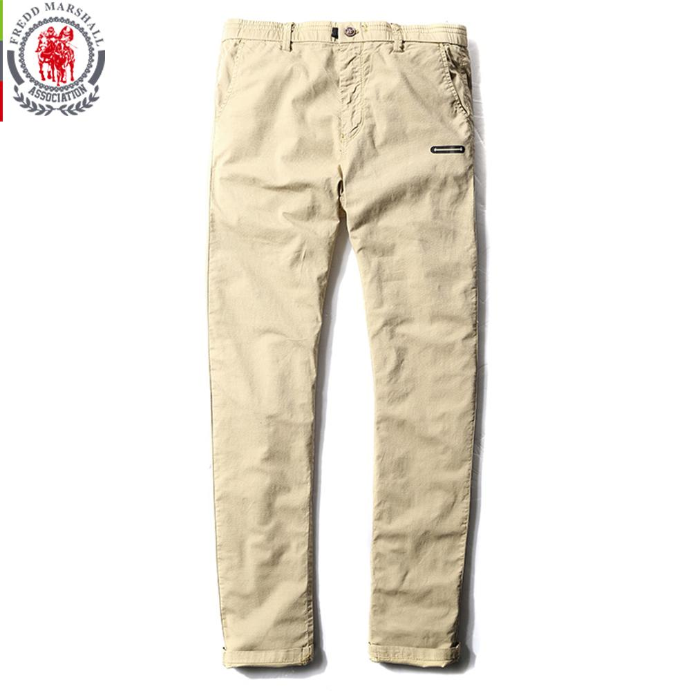 43a690cdb54e49 Fredd Marshall 2017 New Fashion Solid Color Patchwork Washed Casual Pants  Men Straight Cotton Pants Brand Man Long Trousers 3513 Mens Long Trousers  Brand ...