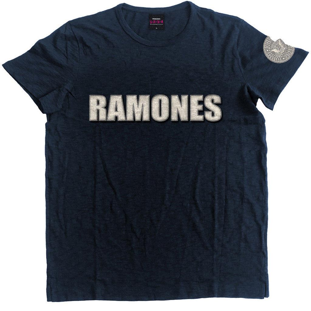 352d5c30a Ramones' Logo And Seal' Applique Slub T ShALICE IN CHAINS TRI CELL BLACK T  SHIRT NEW OFFICIAL ADULT Men Women Unisex Fashion Tshirt Free Buy T Shirts  Online ...