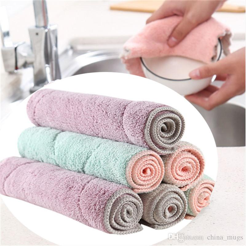 Car Wash & Maintenance Household Kitchen Towels Absorbent Thick Double-layer Wipe Table Kitchen Towel Cleaning Dish Washing Cloth Clients First