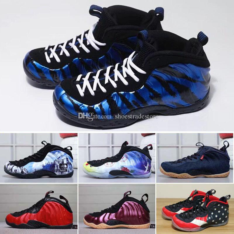 c555d7e413c35 Foam One Abalone Habanero Red Floral Penny Hardaway Men Basketball Shoes  Black Sharpie Alternate Galaxy Fleece New Year Sports Sneakers 7 13  Basketball Mens ...
