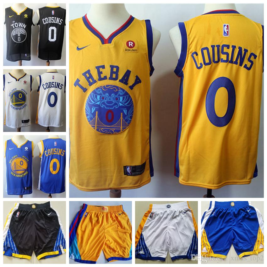 brand new 86409 2f529 Mens 0 DeMarcus Cousins Golden State Jersey Warriors Basketball Jerseys  Stitched New City Edition DeMarcus Cousins Jerseys Warriors Shorts