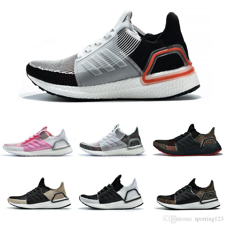 e1b24709a Cheap 2019 Ultra Boost 19 Men Women Running Shoes Ultra Boost 5.0 Laser Red  Dark Pixel Core Black Ultraboosts Trainer Sport Sneaker Size 36-47