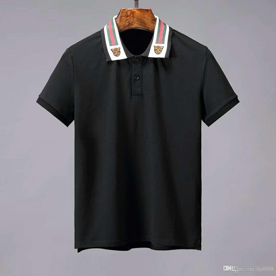 2019 New Men Polo Shirts Short Sleeved Harajuku Casual Polo Shirt