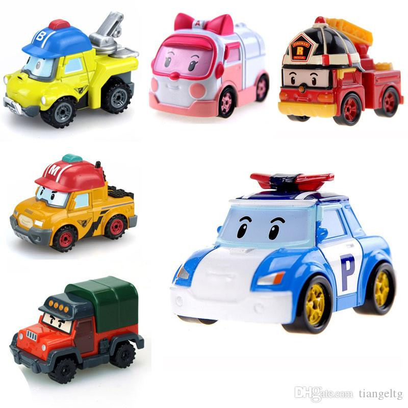 Silverlit Vehicle Robocar POLI Mini Hand Band Model RC Car Ambulance Fire Truck Boy HELLY AMBER Alloy Deformed Police Electric Car 3-6T 04