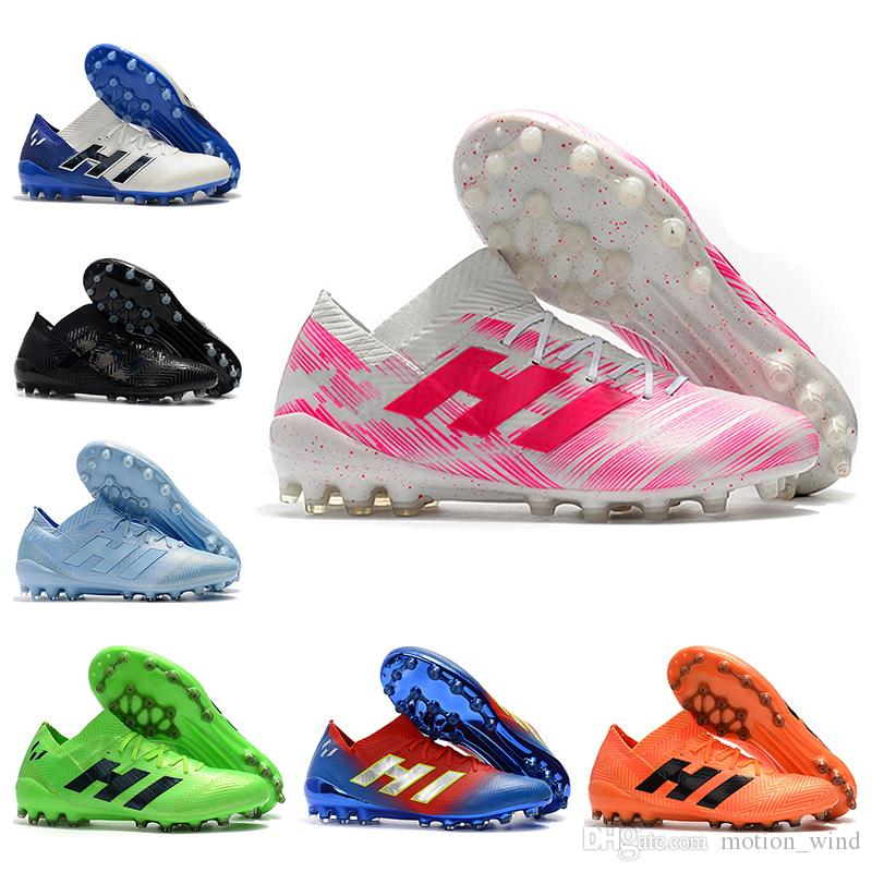 New Arrival Mens Low Ankle Football Boots Nemeziz Messi 18.1 AG Soccer Shoes  Black Electroplating Nemeziz 18.1 AG Outdoor Soccer Cleats UK 2019 From ... 91467ca33a2