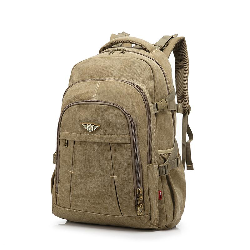 77a0786f4159 Men Backpack Fashion Canvas Vintage Backpack Leisure Shoulder Travel Male School  Bags Laptop Computers Unisex Rucksacks Bagpack Toddler Backpacks Mens ...