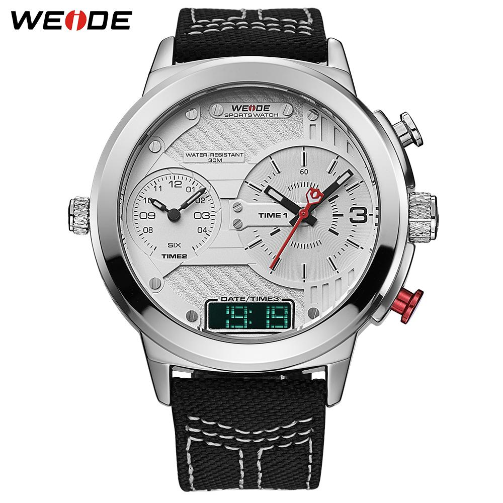 7bb7ea6acff5 Compre WEIDE Relojes Para Hombres Reloj De Pulsera Con Correa De Nylon  Calendario De Cuarzo Cronógrafo Múltiple Erkek Kol Saati Relogio Masculino  Para ...