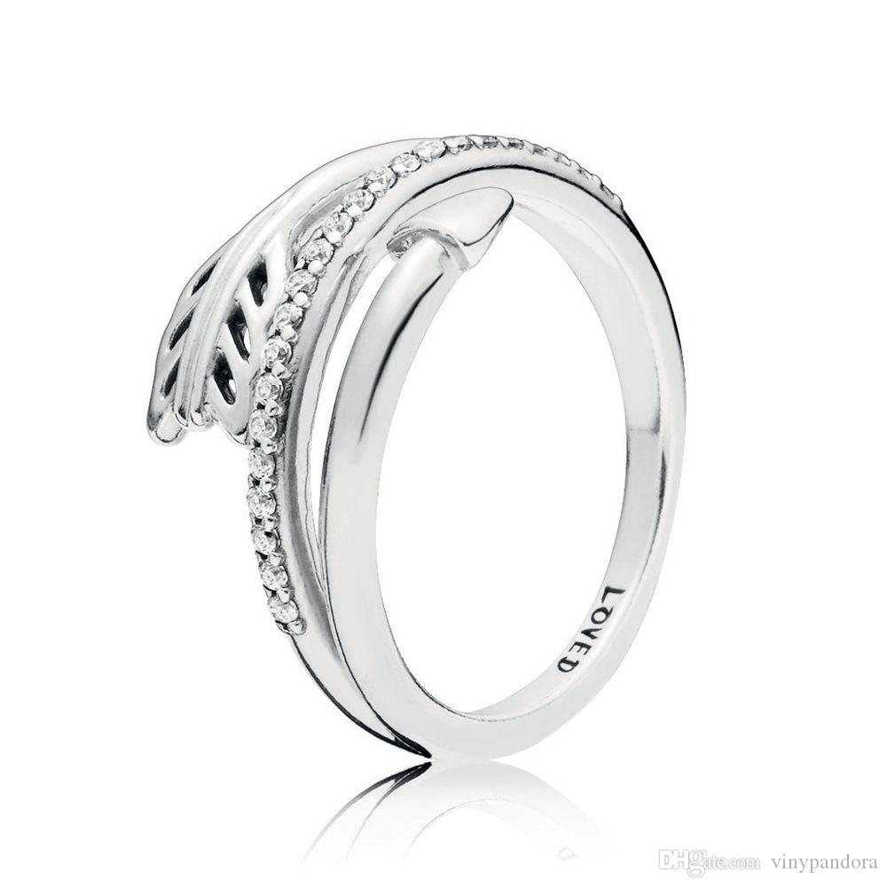 33091ec7b 100% 925 Sterling Silver Sparkling Arrows Ring With Zirconia Fit Pandora  Jewelry Engagement Wedding Lovers Fashion Ring Wedding Rings Sets Loose  Diamonds ...