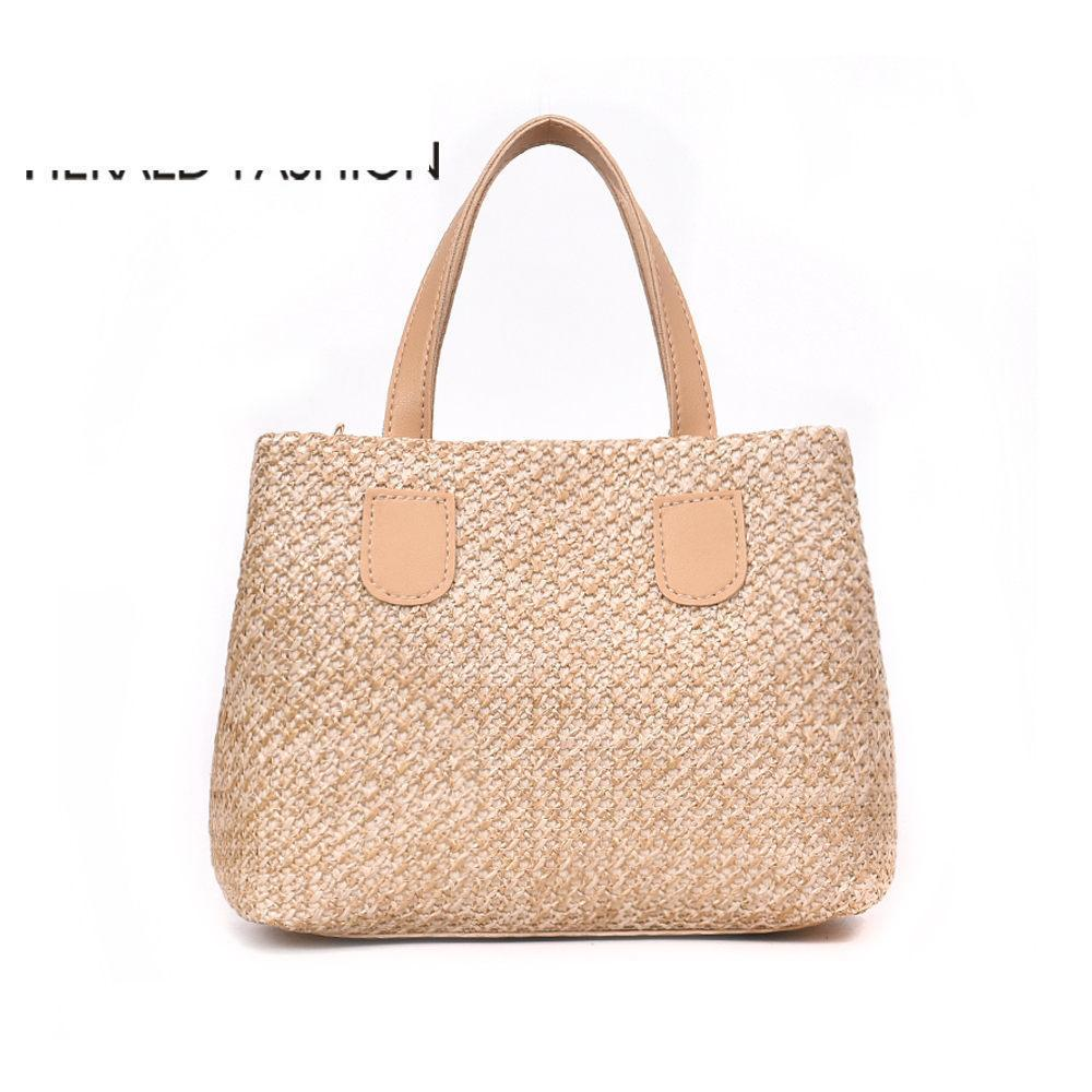 930d77ac8f90 Good Quality Handmade Summer Beach Bag Women Shoulder Bag Straw Woven Large  Capacity Female Tote Handbag Lady S Shopping Bag Ladies Handbags Leather ...