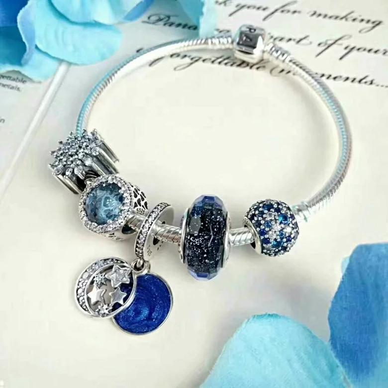 ac2ecba23 2019 Authentic 925 Sterling Silver Beads Moments Two Tone Bracelet With P  Signature Clasp Fits European Pandora Style Jewelry Charms With Box From  Garysmart ...