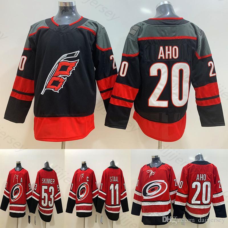 buy online 1bddf d5f57 Men s Carolina Hurricanes Jerseys Sebastian Aho Staal Jeff Skinner Fanatics  Branded Black Alternate Premier Breakaway Player Hockey Jersey