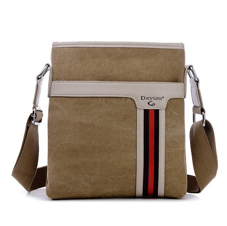 4607d2a10b79 New Men Messenger Bags Canvas Vintage Bag Men Shoulder Crossbody Bags For Man  Brown Black Small Bag Designer Handbags Bolso Hobo Bags Designer Bags From  ...