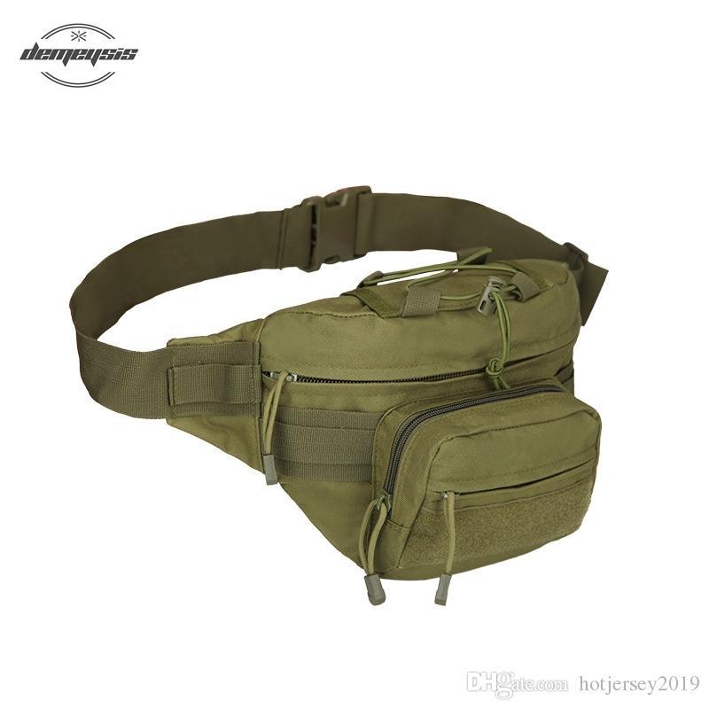 e79fabfe5 Compre Bolsa De Cintura De Los Hombres Al Aire Libre Militar Bolsos De La  Cintura De La Lona Cinturón De Dinero Paquete De Fanny Para Camping  Senderismo ...