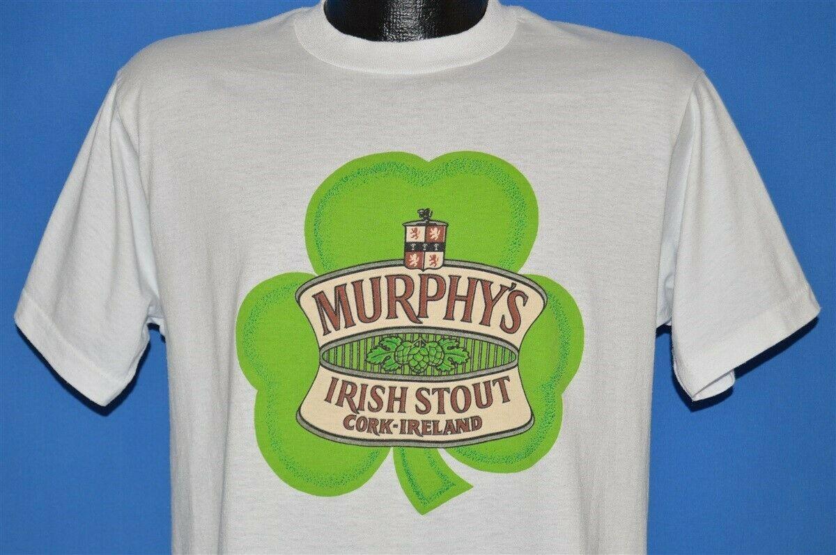 Vtg 80s Murphy S Irish Stout Beer Ireland Shamrock Green Leprechaun