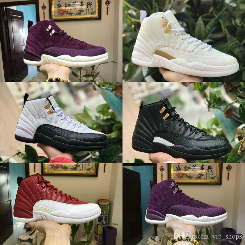 vente chaude en ligne b0276 fea9c 2019 Nike Air Jordan 12 retro jordans 2019 New Mens 12s Chaussures  Winterized WNTR Gym Rouge Michigan Bordeaux Pas Cher 12 Blanc Noir Le  Maître De La ...