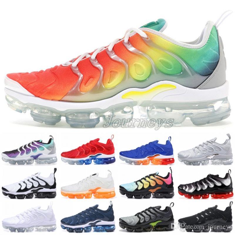Nike air max 2019 TN Plus Rainbow Hombre Zapatillas de running Ultra blanco Triple Negro Juego Royal Orange Diseñador Zapatillas de deporte Mujer