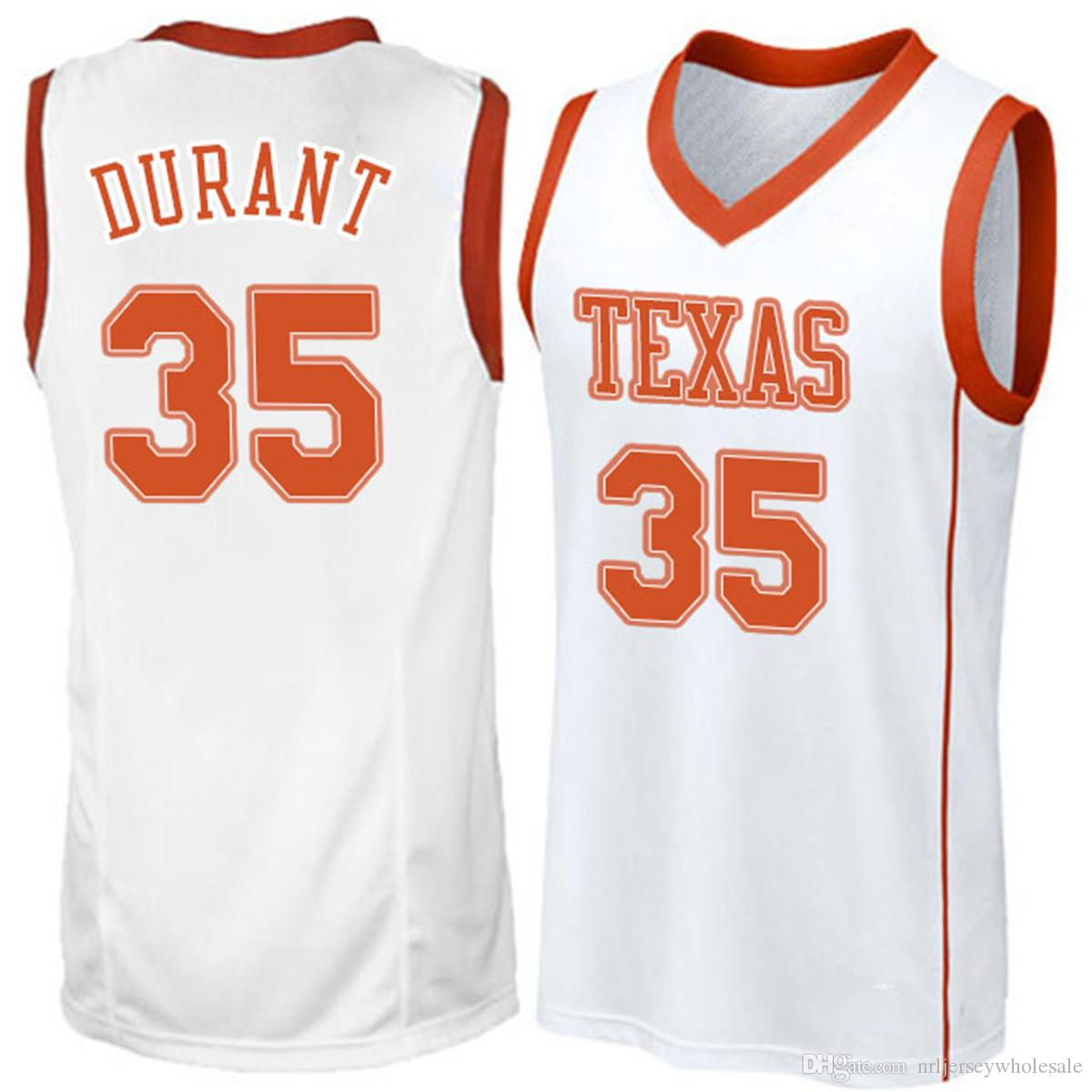 differently 03bba bbde4 Kevin 35 Durant College Jersey Texas Longhorns NCAA Basketball Jersey  Double Stitched High Quality Sports Jersey IN STOCK