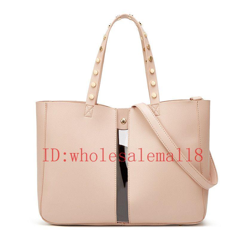 1a596ebb50b 2019 New European American Fashion Women Rivet Handbags Simple Totes Ladies  Large Capacity Shoulder Bag Crossbody Bolsa Feminina Jo Totes Discount  Handbags ...