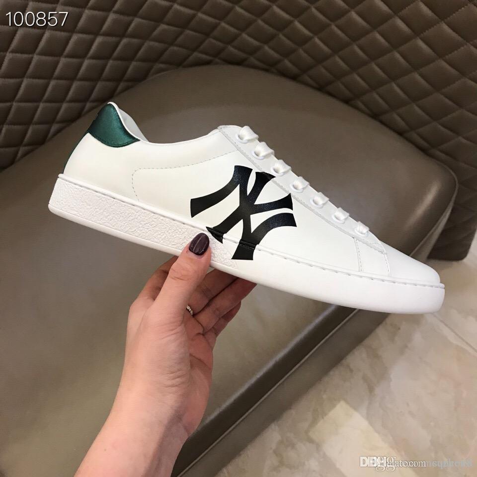 7f746360f Mens Designers Shoes Ace Sneaker With Loved Print Rubber Sole Green Web  DOLCE Leather Casual Shoes For Man Vetements Sneakers Online Deck Shoes  From Suzhou8 ...