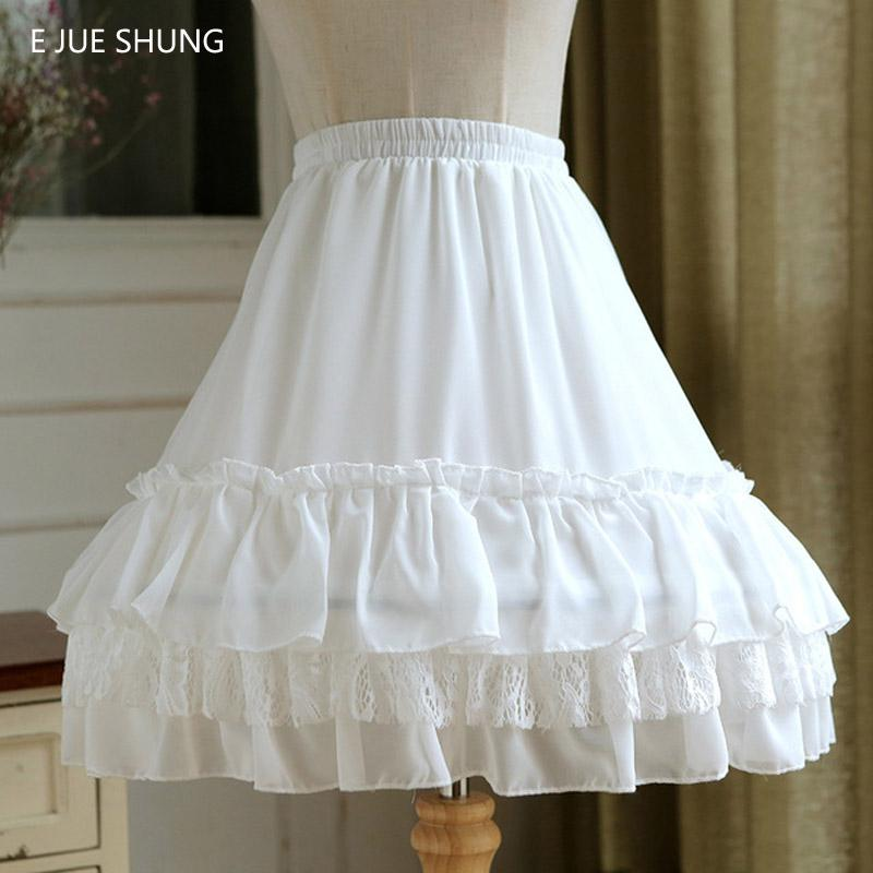 wholesale Ball Gown Underskirt Short Dress Cosplay Petticoat Lace Chiffon Two Bones Lolita Petticoat Rockabilly
