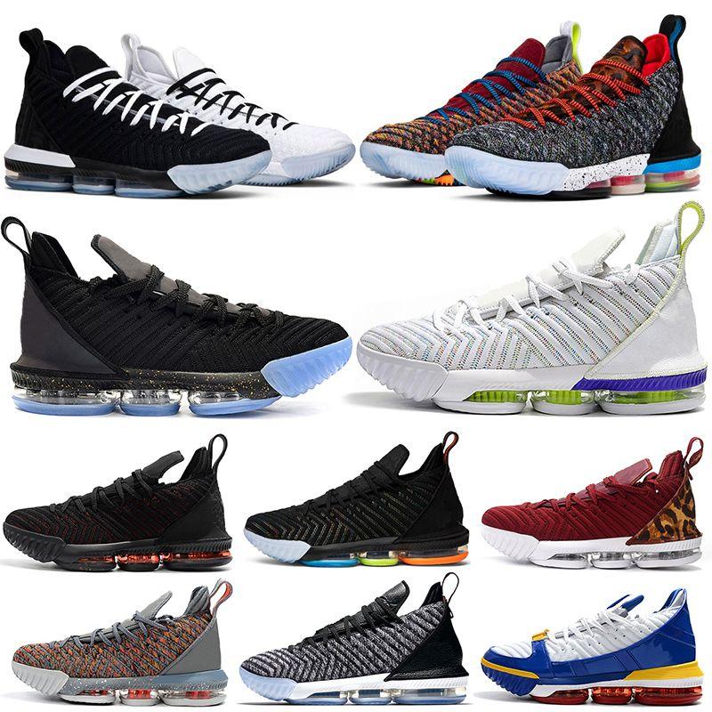 best loved ade7c 41d12 Acheter Nike Lebron James Lebrons 16 16s Chaussures De Basketball Pour  Hommes Égalité Fraîche Je Promets Oreo 1 À 5 Ce Que Le Roi Court Pourpre  Formateur ...