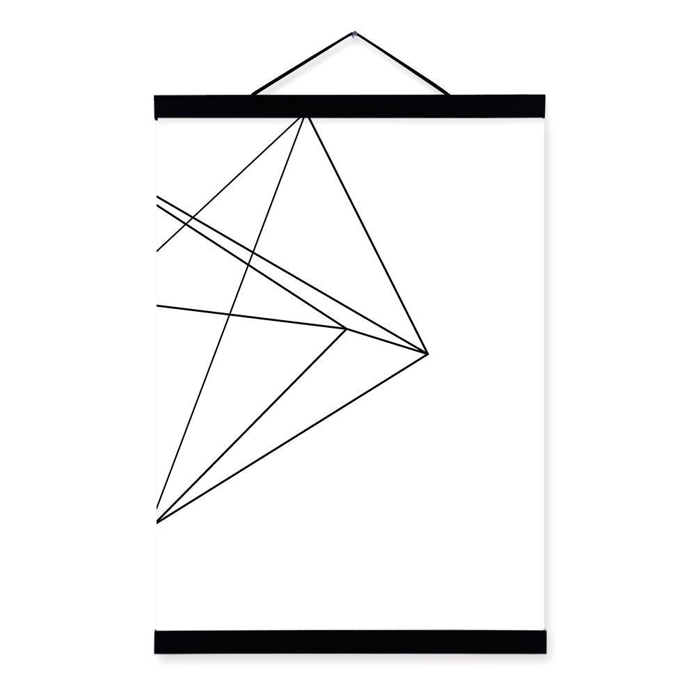 Satın Al Anvas Boyama Minimalist Siyah Beyaz Geometrik çizgi şekli