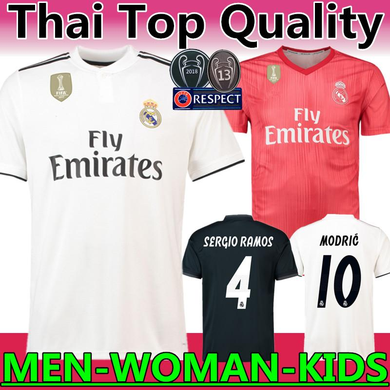 7840171fdbe 2019 Thailand Quality 2018 2019 New Real Madrid  10 MODRIC Marcelo Soccer  Jersey BALE ASENSIO ISCO RAMOS Champions League Home Third Kit Jersey From  ...
