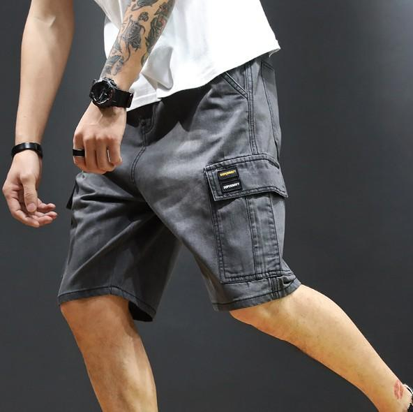 Mens New Summer Shorts Multi-pocket Loose Style Casual Shorts Pants with 2 Colors Plus Size 28-40