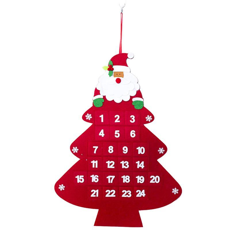 Christmas Countdown Calendar.Christmas Tree Advent Calendar Hanging Christmas Countdown Calendar For Decorations