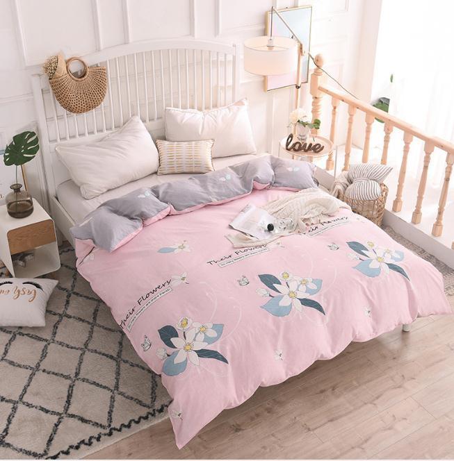 2019 pink gray cotton duvet cover comforter cover bedding bedroom rh dhgate com