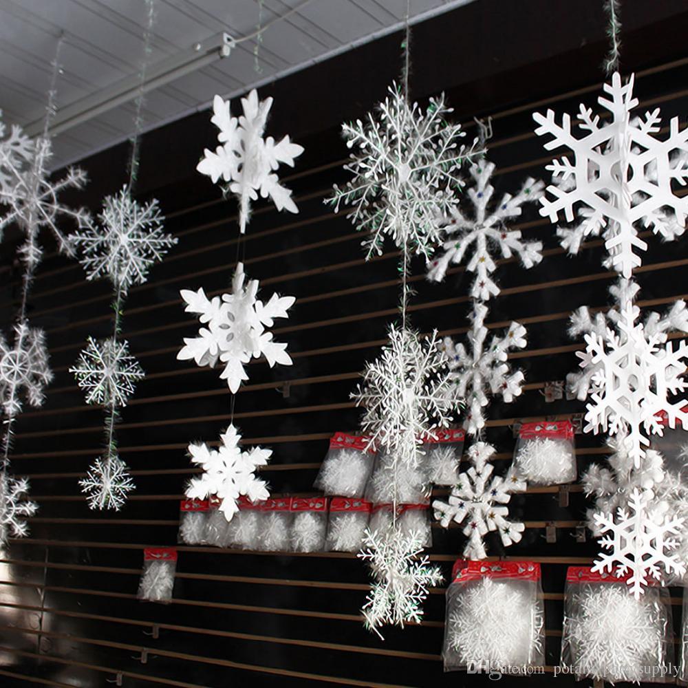 2019 11cm christmas snowflake plastic white snowflake window sticker rh dhgate com