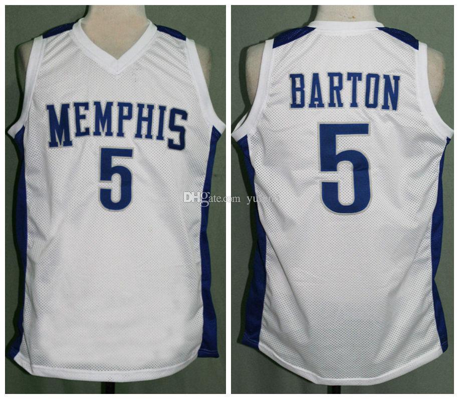 baafcb653 Großhandel Will Barton   5 Memphis Tigers College Retro Basketball Jersey  Herren Genäht Benutzerdefinierte Nummer Name Jerseys Von Yufan5