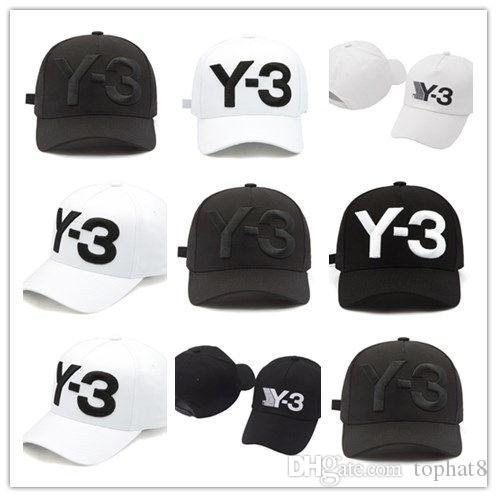 76f414c489cff Top Sale Y 3 Dad Hat Big Bold Embroidered Logo Baseball Cap Adjustable  Strapback Hats Y3 Ball Caps Fashion Men Caps Hats And Caps Skull Caps From  Tophat8
