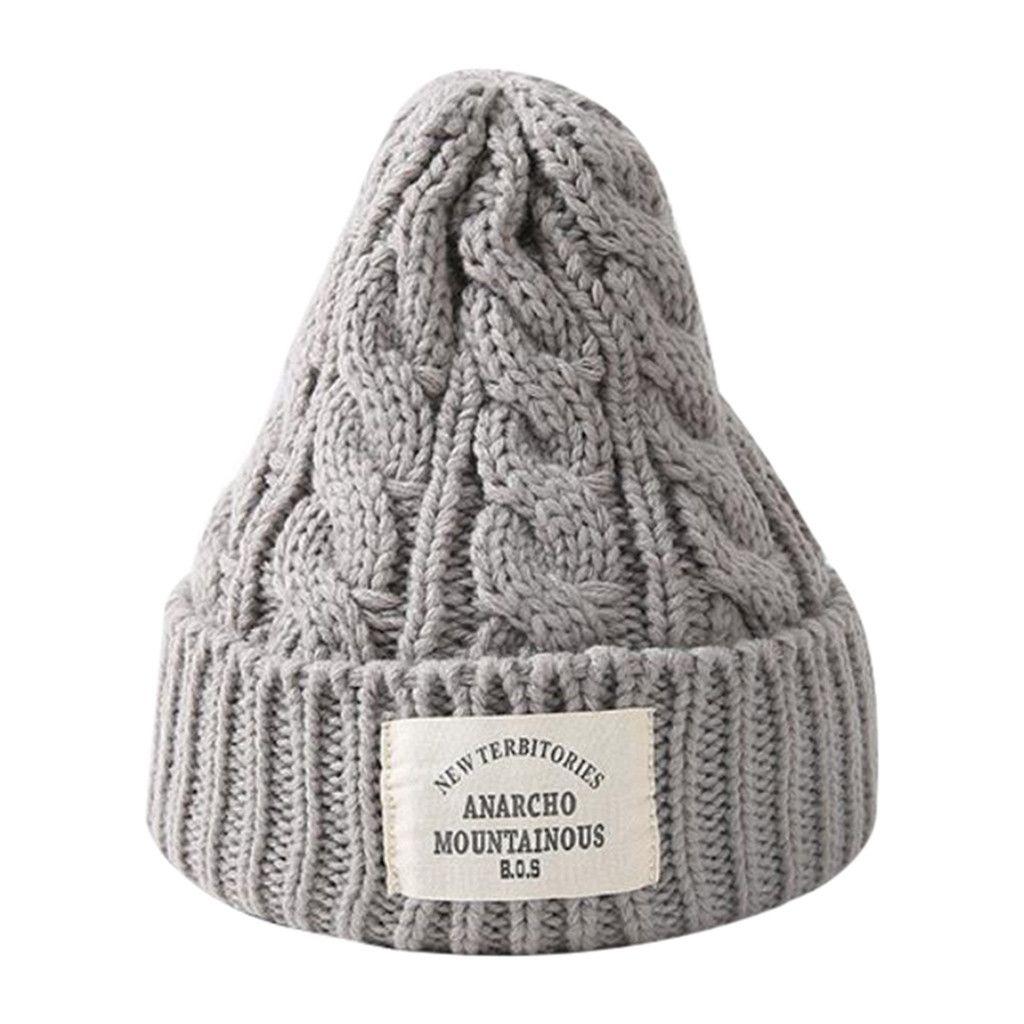 2019 Warmer Bonnet Ladies Casual Cap Men Women Autumn And Winter Dome Warm  Knit Hat Outdoor Crochet Knit Caps