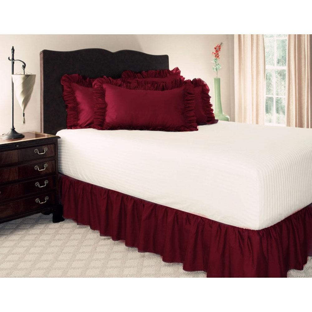 hotel solid pattern bed sheet non slip dust ruffle queen size rh dhgate com