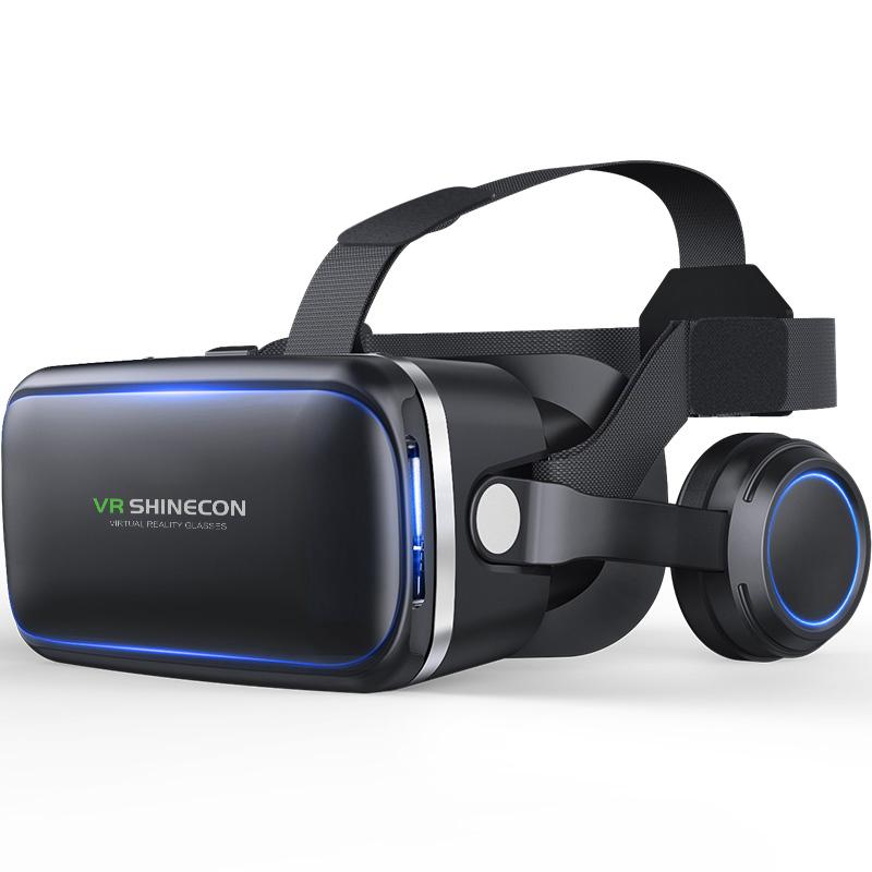 f271b7aeac26b Compre Shinecon 6.0 Óculos De Realidade Virtual Óculos De Realidade Virtual  Vr Óculos De Fone De Ouvido Para 4.7 6.0 Polegadas De Umbre