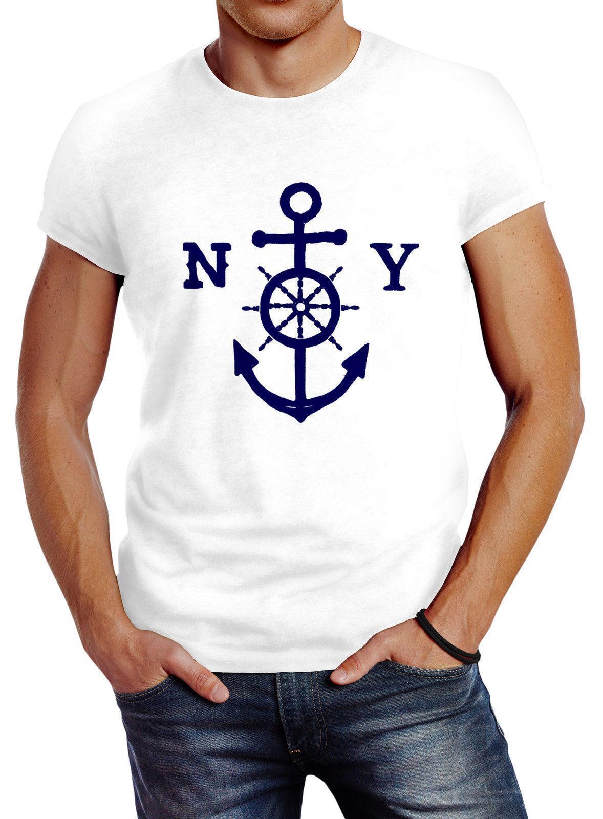 ecfcab41cca5ea Herren T Shirt Anker Steuerrad Anchor Steering Wheel Slim Fit Neverless T  Shirt Humor T Shirt With Shirt From Jie68