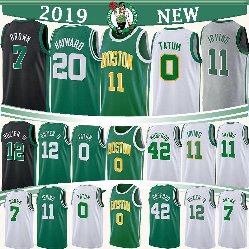 finest selection bfa36 31cf6 Boston 0 Tatum Celtic jersey 11 Irving 20 Hayward jerseys 7 Brown 42  Horford 12 Rozier 33 Bird 36 Smart basketball jerseys