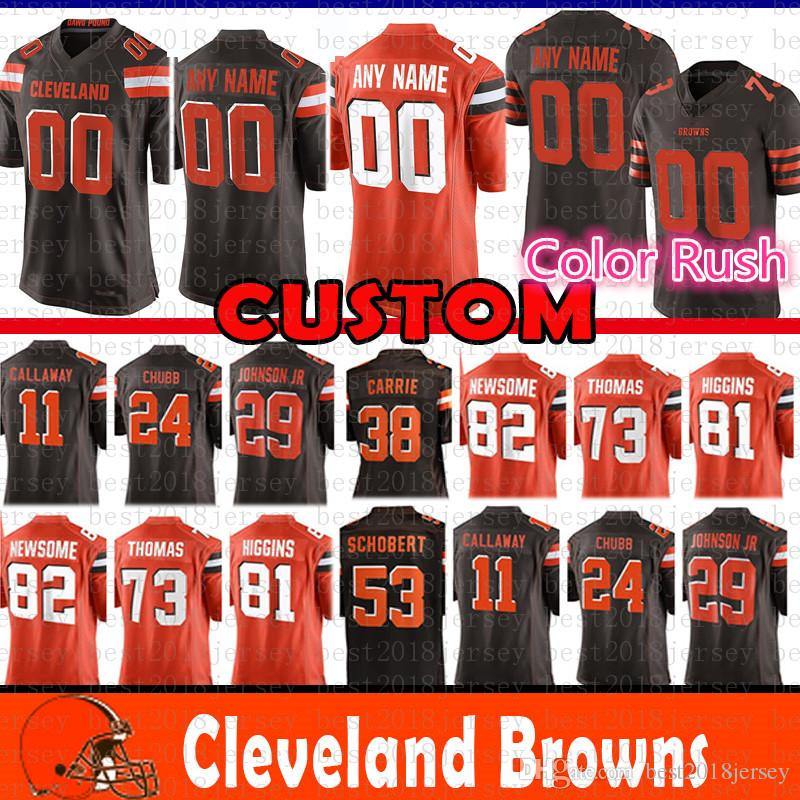 4fde5b18b2d8 29 Duke Johnson Jr Cleveland Custom Browns Jersey 24 Nick Chubb 53 ...