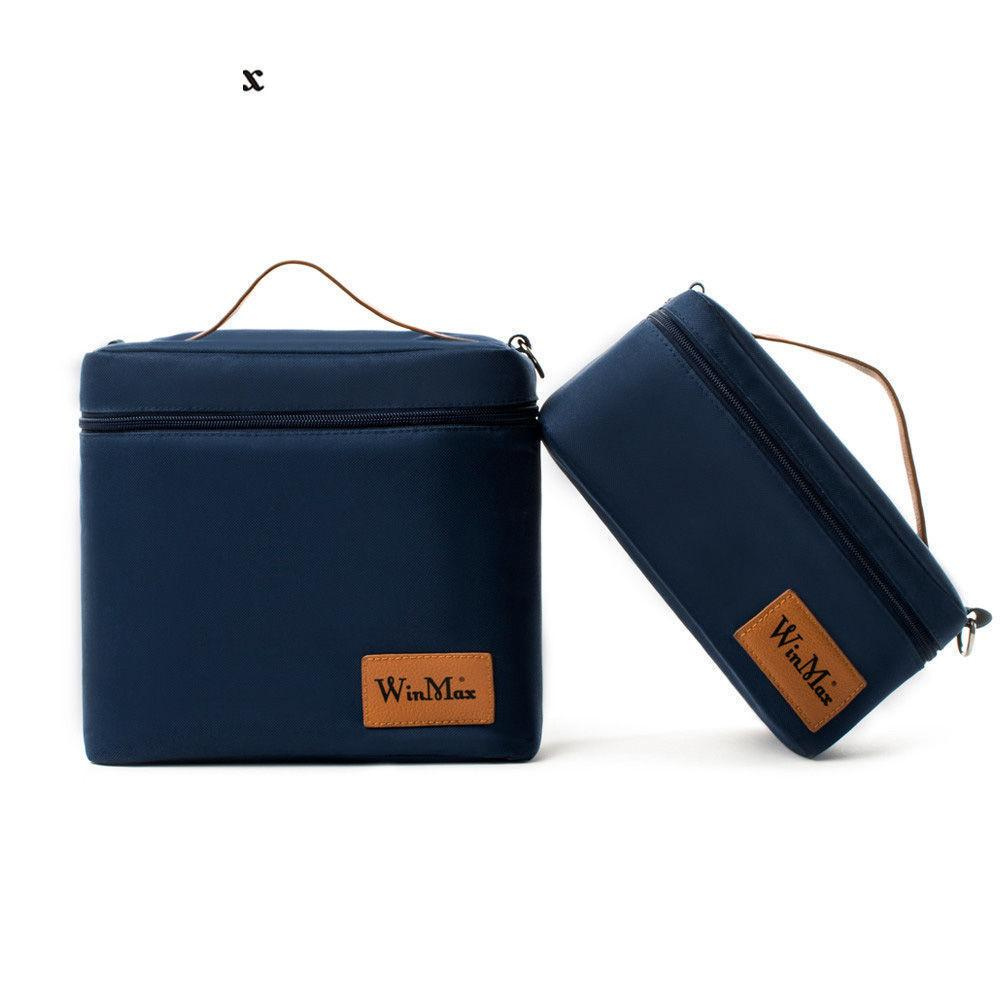 2019 Portable Thermal Insulated Cooler Lunch Bags Daily Tote Cooler Storage Ice Pack Container Travel Picnic Food Lunch Bag Box