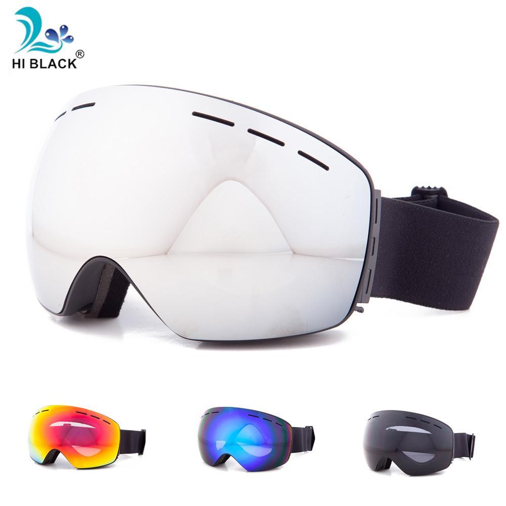 72deff4403db HI BLACK Ski Glasses Double Lens UV400 Anti-fog Ski Goggles Snow ...